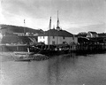 Warehouse and wharf in Kodiak, June 1908