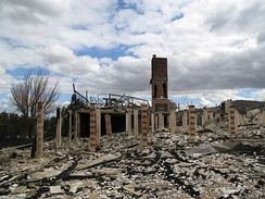 Aftermath of the devastating 2009 Victorian bushfires which killed 173 people