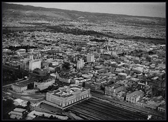 Aerial view of Adelaide in 1935