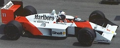 Alain Prost has four titles, three for McLaren and one for Williams. He also came close to winning the title for Renault and for Ferrari.