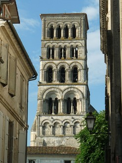 Bell tower of Angoulême Cathedral, Charente, SW France