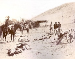 The Chilean Army in the battlefield of the Battle of Chorrillos, 1883