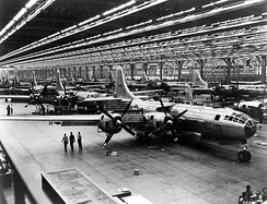 Boeing-Wichita B-29 Assembly Line – 1944