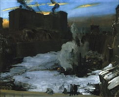 Pennsylvania Station Excavation by George Bellows (ca. 1907–1908). Brooklyn Museum.