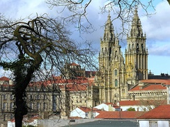 Many cathedrals are pilgrimage destinations. Santiago de Compostela, Spain, is one of the most famous.