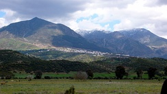 Rif Mountains in northern Morocco