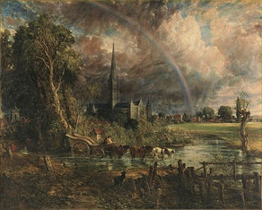 Salisbury Cathedral from the Meadows (1831). Tate Britain