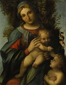 Correggio, Madonna and Child with infant St John the Baptist, 1514–15