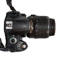 D40 with normal zoom equipped with a Nikkor 18-55mm f/3.5-5.6G VR kit lens