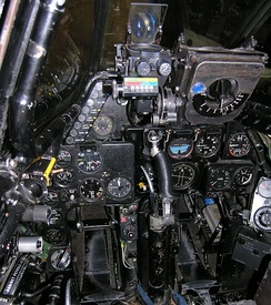 Cockpit layout of the Vampire FB.6