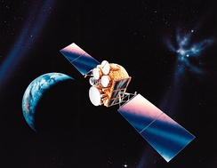Illustration of the DSCS III satellite