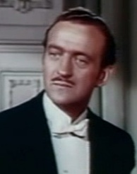 Raffles, the gentleman thief, portrayed by David Niven.