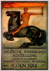 Peter Behrens, Deutscher Werkbund exhibition poster (1914)