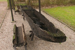 A Slavic dugout boat from the 10th century