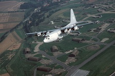 EC-130H from 43rd ECS over Sembach AB in 1987