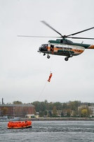 Search and rescue training in Estonia with a Mil Mi-8