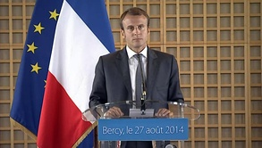Macron as the French Minister for the Economy and Finance