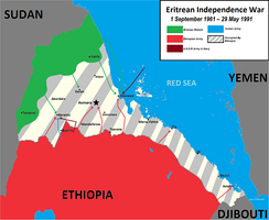 Eritrean War of Independence against Ethiopia ended in 1991