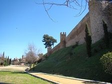 City walls of Toledo. Originally built by Romans, it was rebuilt and enlarged by the Visigoths