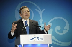 President Barroso, from the EPP which was the largest party after the 2004 and 2009 elections