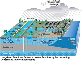 Planned water recovery and storage implementation using CERP strategies