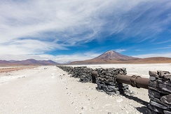 Gas pipe in the dry region of Antofagasta, Chile.