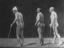 Frame from one of Gheorghe Marinescu's science films (1899).