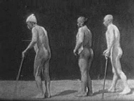 Frame from one of Marinescu's science films (1899).