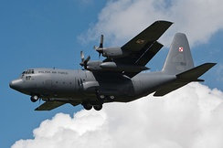 A C-130 on approach