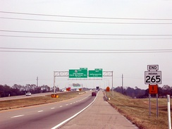 Former State Road 265 (now I-265) at its former eastern terminus at State Road 62 (this interchange has since been reconfigured).