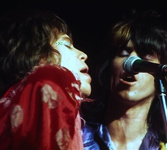 Jagger and Richards in San Francisco during the Rolling Stones' 1972 US tour
