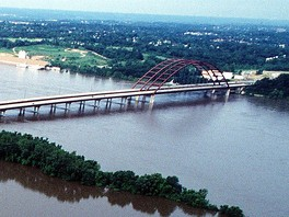 J. B. Bridge during the flood of 1993