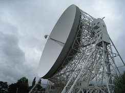 The Jodrell Bank Lovell 76-m radio telescope in Lower Withington, built in August 1957, is the world's third largest steerable telescope, and was the largest until 1971. It was designed by Sheffield's Sir Charles Husband and built of steel from Scunthorpe