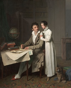 Louis-Léopold Boilly - The Geography Lesson (Portrait of Monsieur Gaudry and His Daughter)