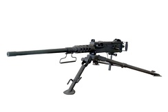 A .50 caliber M2 machine gun: John Browning's design has been one of the longest-serving and most successful machine gun designs