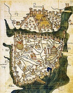 Map of Constantinople (1422) by Florentine cartographer Cristoforo Buondelmonti[38] is the oldest surviving map of the city, and the only one that predates the Turkish conquest of the city in 1453.