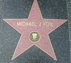 Michael J. Fox's star on the Hollywood Walk of Fame for Motion Picture - 7021 Hollywood, Blvd.
