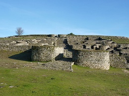 Gates of the Iron Age oppidum of San Cibrao de Las, one of the largest castros of Galicia