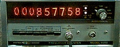 Systron-Donner frequency counter from 1973 with Nixie-tube display
