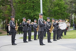 The Representative Band of the Polish Air Force was established in 2002, merging two military bands from Jelenia Góra and Oleśnica.
