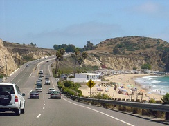 Southbound PCH in Crystal Cove State Park near Laguna Beach