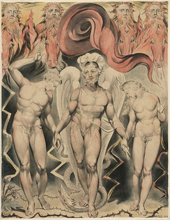 The Expulsion of Adam and Eve from the Garden of Eden, William Blake (1808)