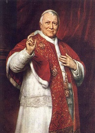 Pope Pius IX (1846–1878), during whose papacy the doctrine of papal infallibility was dogmatically defined by the First Vatican Council