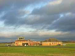 RAF Benson control tower and associated buildings in 2008.
