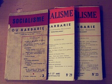 Copies of the journal Socialisme ou Barbarie