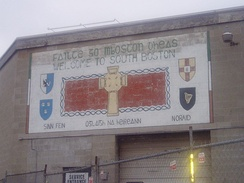 Irish Republican mural in South Boston, Massachusetts