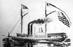 The side-wheel passenger and cargo steamship Anthony Wayne sank in 1850, and was located in 2006 about six miles (9.7 km) north of Vermilion, Ohio.