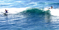 El Salvador has surf tourism due to large waves from the Pacific Ocean.