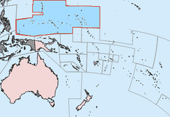 Trust Territory of the Pacific Islands in Micronesia administered by the United States from 1947 to 1986