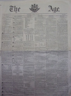 A copy of the first edition of The Age